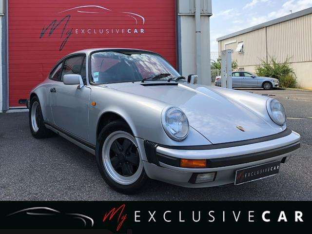 porsche 911 coupe-carrera-3-2-boite-g50-matching-numbers argent