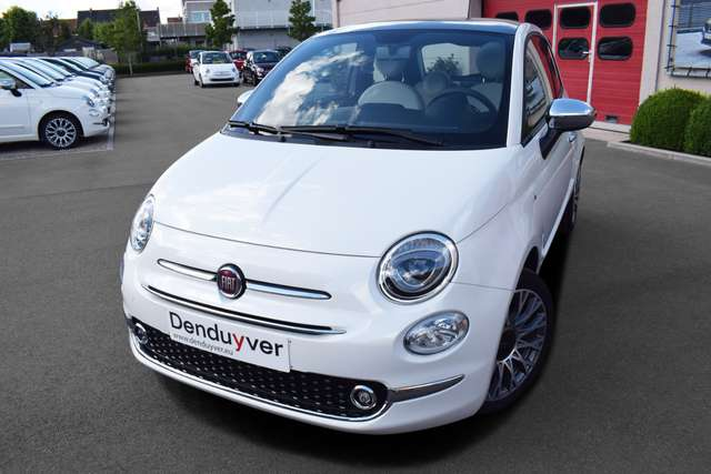 fiat 500 1-2-star-parelmoer-carplay-navi7-pdc-sportzetels wit